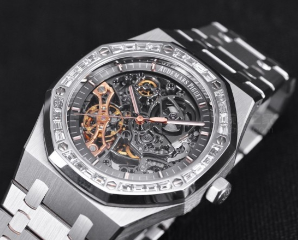 Replica Audemars Piguet Royal Oak Double Balance Wheel Openworked Diamond 15412BC.ZZ.1220BC.01