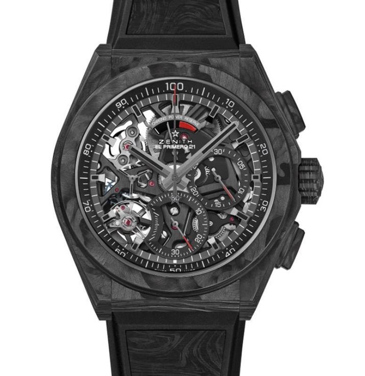 Replica Zenith Defy El Primero 21 Carbon Men's Watch