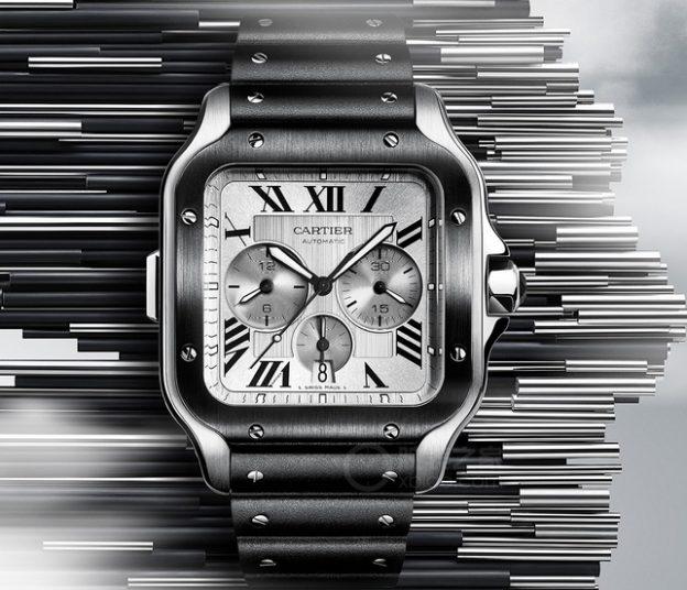 Replica Cartier Santos de Cartier Chronograph WSSA0017 Review