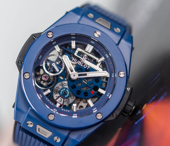 Replica Hublot Big Bang Meca-10 Ceramic Blue 45mm 414.EX.5123.RX Review