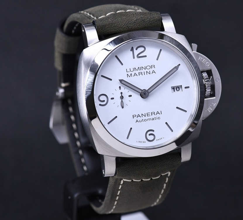 Replica Panerai Luminor Marina White Sandwich Dial PAM01314 Review