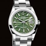 Replica Rolex Datejust 36 Stainless Steel Green Palm 126200-0020 Review